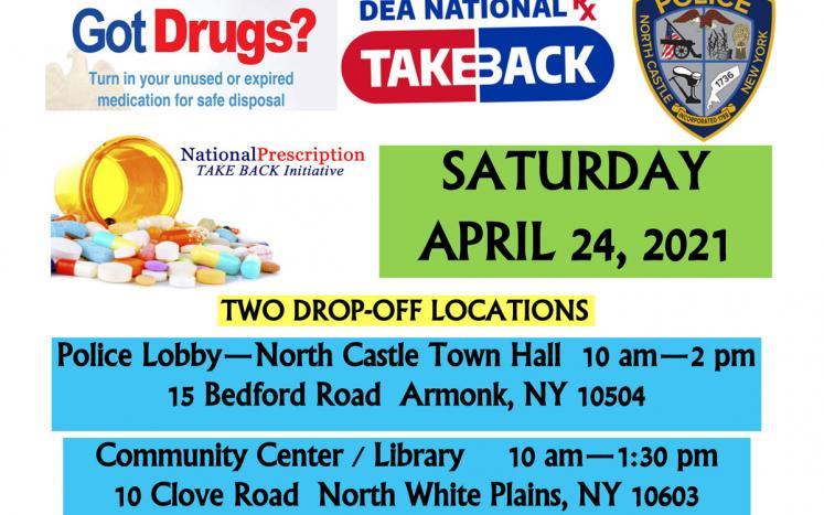 National Drug Take Back Day is April 24, 2021