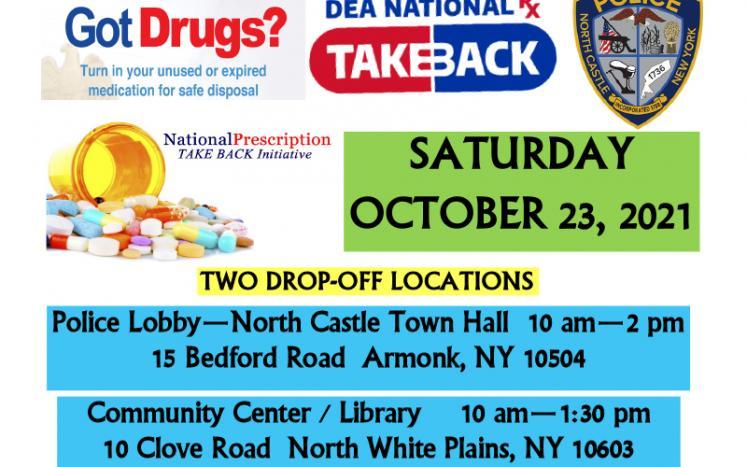 National Drug Take Back Day is October 23, 2021